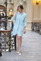 light blue Moschino coat