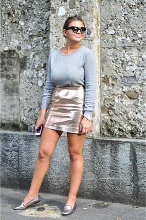 eggshell River Island skirt