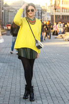 yellow Zara sweater