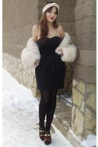 beige vintage fur coat coat