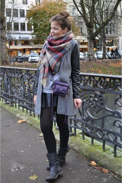 purple Zara scarf - purple Rebecca Minkoff bag