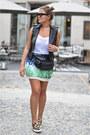 Green-zara-skirt