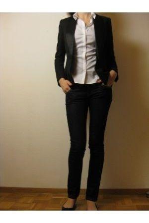 H&M blazer - H&M blouse - Mango jeans - Zara shoes