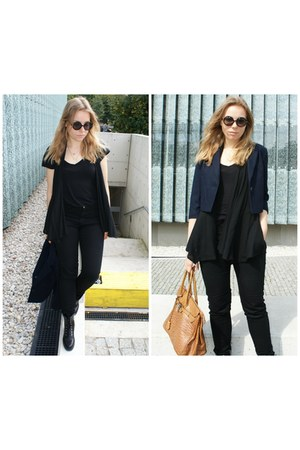 black H&M blouse