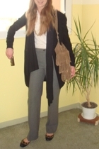vintage coat - Filippa K pants - Topshop shoes - hlens accessories - H&M scarf -