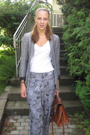 silver Monki pants - gray Zara blazer