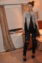 GINA TRICOT sweater - H&M jeans - Primark accessories - new look shoes - lindex