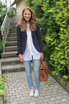 Zara blazer - Zara shirt - H&M jeans
