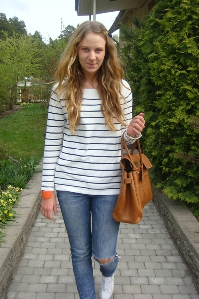 Zara shirt - armani jeans - Mulberry accessories