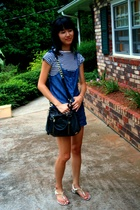 Urban Outfitters shirt - forever 21 shorts - cynthia rowley purse