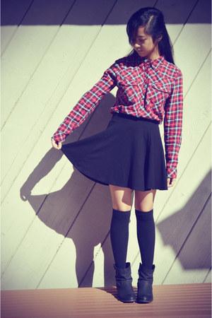 black skater knit H&M skirt - black Target boots