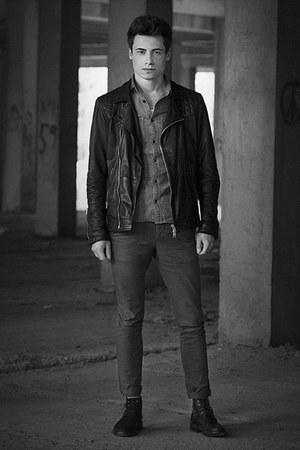 Kurt Geiger boots - All Saints jacket - All Saints shirt - All Saints pants