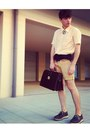 Navy-wedges-filipe-sousa-shoes-peach-mesh-vintage-shirt-dark-brown-zara-bag