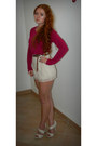 High-waisted-h-m-shorts-primark-belt-asos-heels