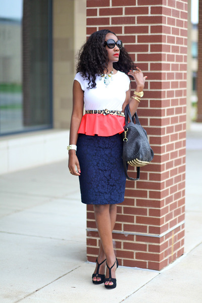 Alice & Olivia dress - Alexander Wang bag - J-Crew skirt - ann taylor necklace