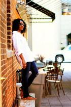 H&M shirt - J Brand jeans