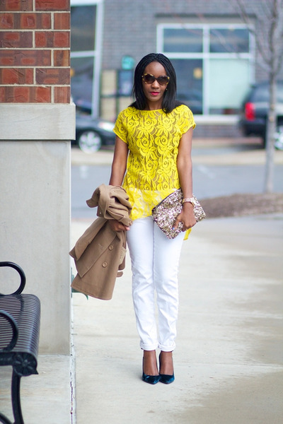 Zara Yellow Lace Blouse 45