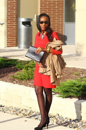 ann taylor dress - ann taylor necklace - banana republic pumps