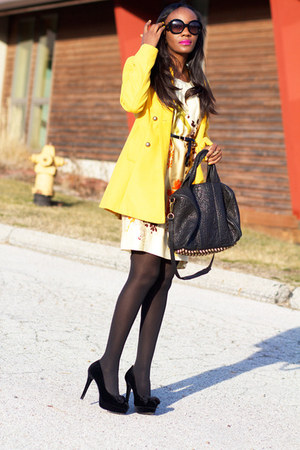 BB Dakota blazer - victor dress - Alexander Wang bag - Prada sunglasses