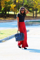Forever 21 pants - Celine bag - Zara top - banana republic heels