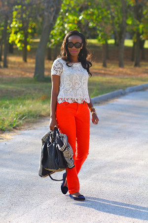 Zara top - Alexander Wang bag - JCrew pants - Zara loafers
