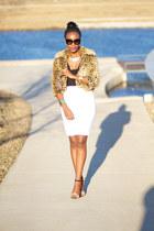 f21 jacket - Zara bag - Express skirt - asos top - Zara sandals