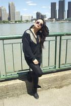 black Vanity shoes - black Jordache Studio sweater