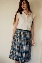 vintage 50s skirt - vintage 60s blouse