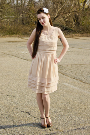 modcloth dress - pierre dumas modcloth heels - modcloth necklace