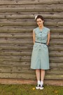 Vintage-40s-dress-payless-shoes