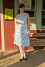 Vintage-dress-payless-wedges