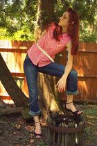theknottygirl on etsycom shirt - Forever 21 jeans - mandees shoes