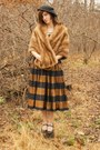Vintage-hat-vintage-skirt-vintage-jacket-modcloth-blouse-payless-shoes