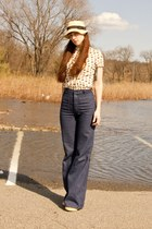 Urban Outfitters jeans - tillys hat - modcloth blouse - modcloth wedges