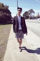 black Zara blazer - navy Urban Outfitters shorts