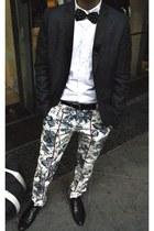 navy H&M blazer - navy Justus original pants