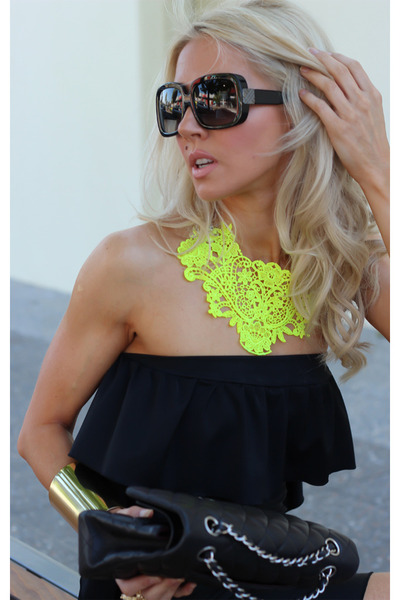 black black shades Burburry glasses - black Justyna G dress