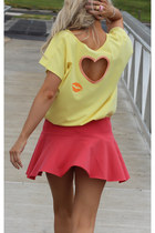 light yellow Justyna G t-shirt