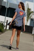 Justyna G t-shirt - Zara shorts - glitter Converse sneakers