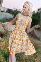 orange Justyna G dress