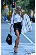 white shirt Zara shirt - white blazer karen millen blazer - 255 Chanel bag