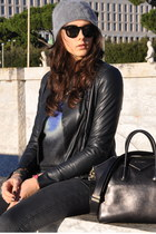 navy mauro grifoni jacket - blue Alexander McQueen sweater - black Givenchy bag