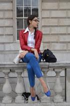 leather Richmond jacket - Guess shirt - Gucci pants