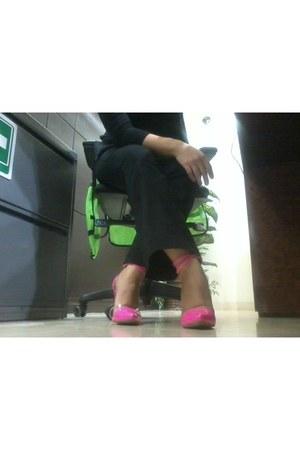 neon Wild Rose heels