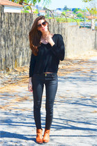 black cotton GoodNight Macaroon sweater - bronze dolce&gabanna sunglasses