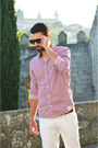 White-zara-jeans-red-h-m-shirt-navy-vans-sneakers