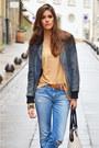 Sky-blue-denim-diesel-jeans-black-leather-pepe-jeans-jacket