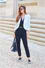 White-mango-blazer-black-mango-top