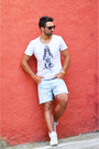 Sky-blue-denim-zara-shorts-white-nike-sneakers-white-cotton-solid-t-shirt