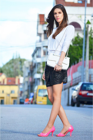 Chanel bag - cotton Mango sweater - romwe shorts - romwe heels